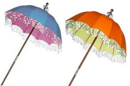 Splashes Of Bright Colour: Indian Parasols For The Garden