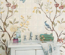 Lovely Things Wallpaper Style Chinoiserie Tiles From Fired Earth