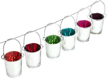 Hangingrainbowtealights